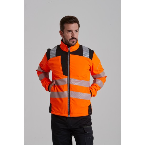 Jól láthatósági softshell kabát PW3