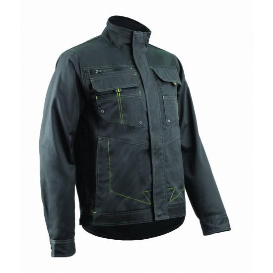 BARVA munkaruha kabát sötétszürke