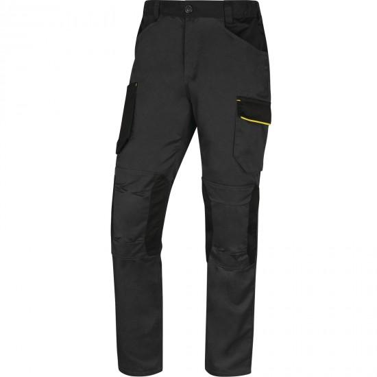 A Mach2 munkaruha nadrág derekas sötétszürke-sárga