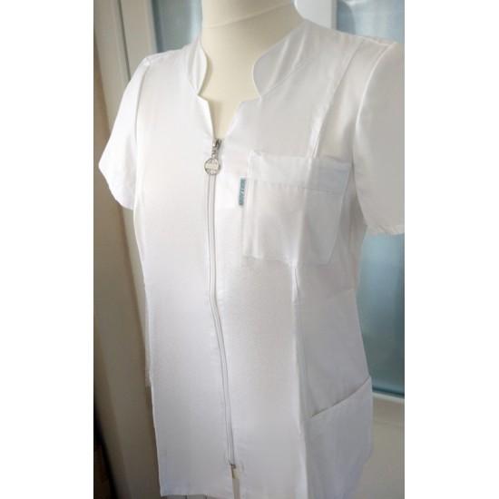 Köpeny női fehér - Eszter (Tunika)